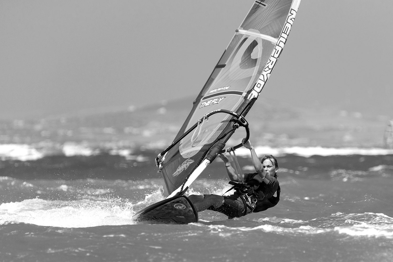 Windsurfing in the Aegean Sea