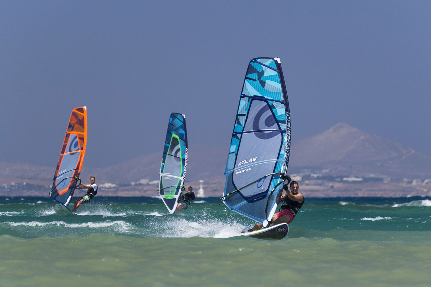 Windsurfing in the Aegean Sea Windsurfen