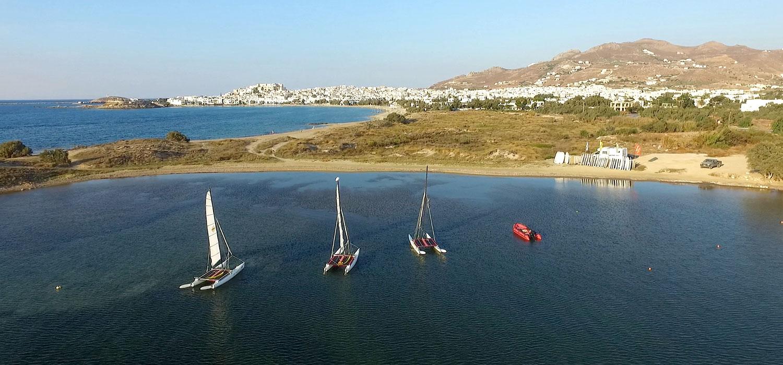 Katamaran segeln in der St. George-Bucht