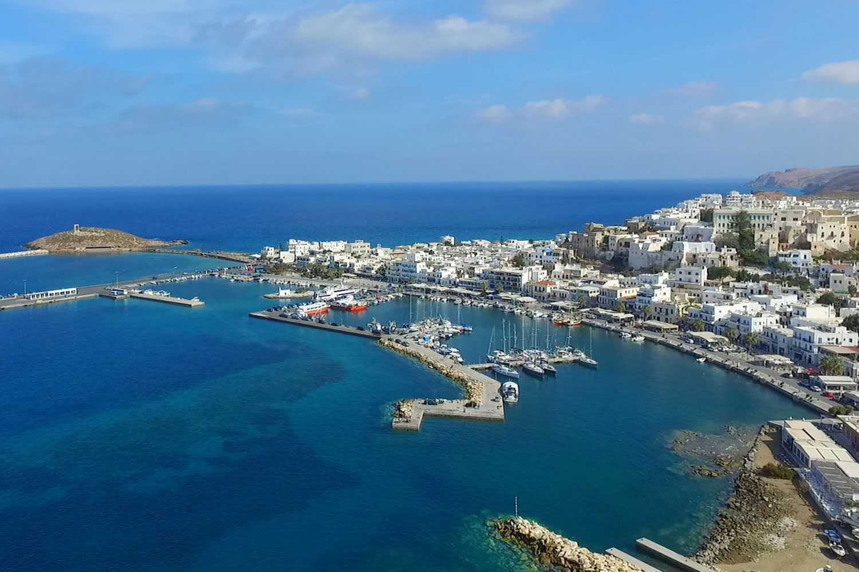 harbour hafen summer Island Naxos flisvos sportclub urlaub ferien wandern hiking griechenland insel hopping vakantie griekenland ferries ferry faehre haven
