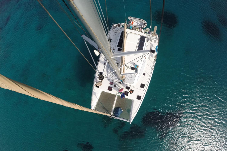 catamaran Sailing cyclades flisvos sport club naxos greece vacation holidays summer zomer vakantie griekenland zeilen nautitec