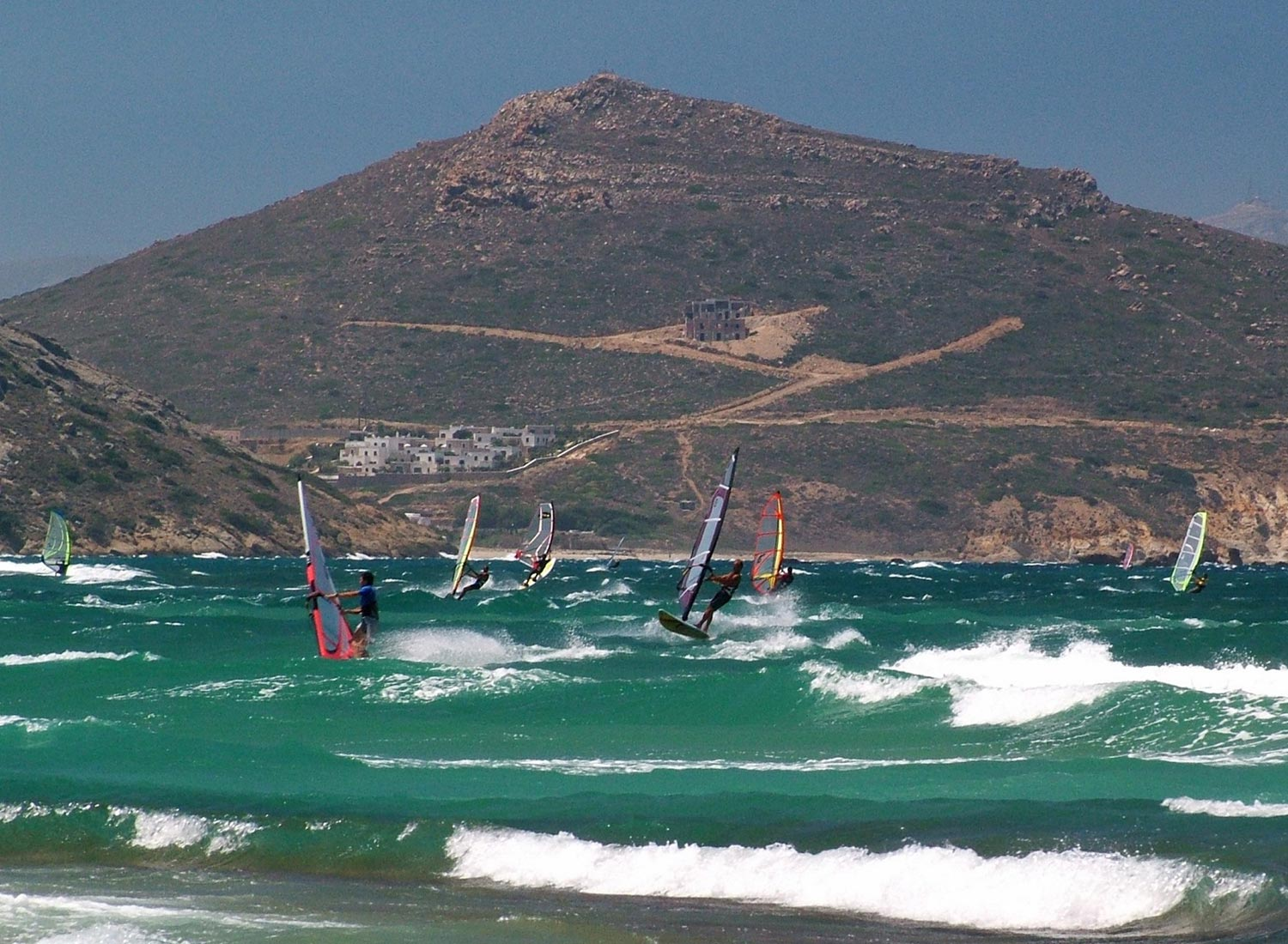 windsurfing naxos wavespot surfcenter greece flisvos sport club