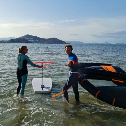 wing foiling laguna flisvos sport club naxos greece