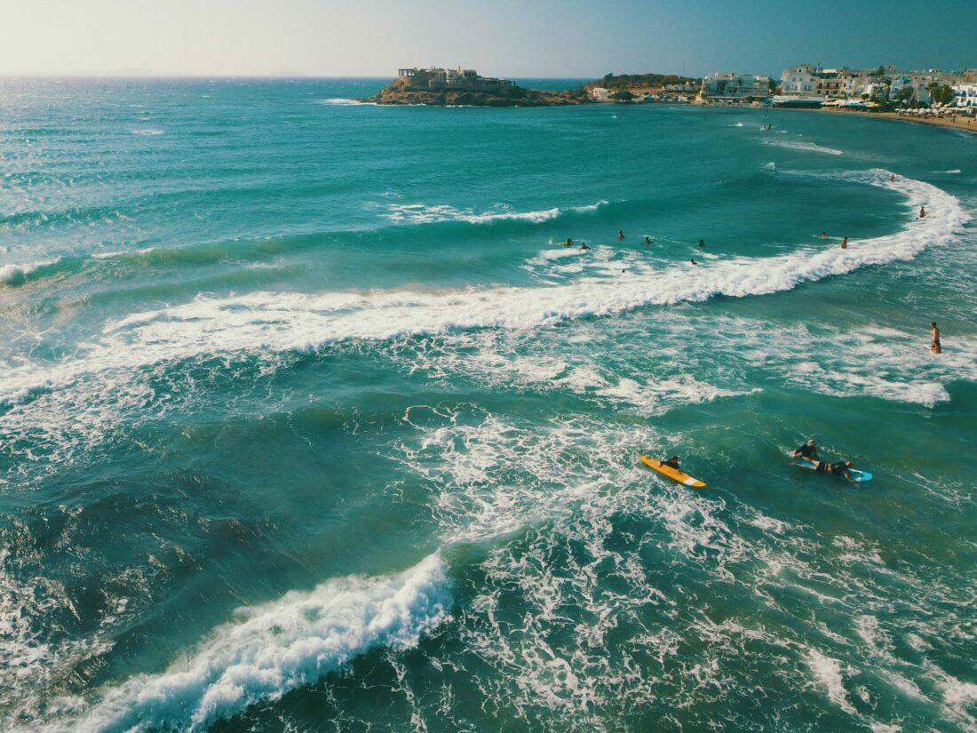 wavesurfing naxos flisvos sport club greece surfing griechenland urlaub ferien sommer wassersport