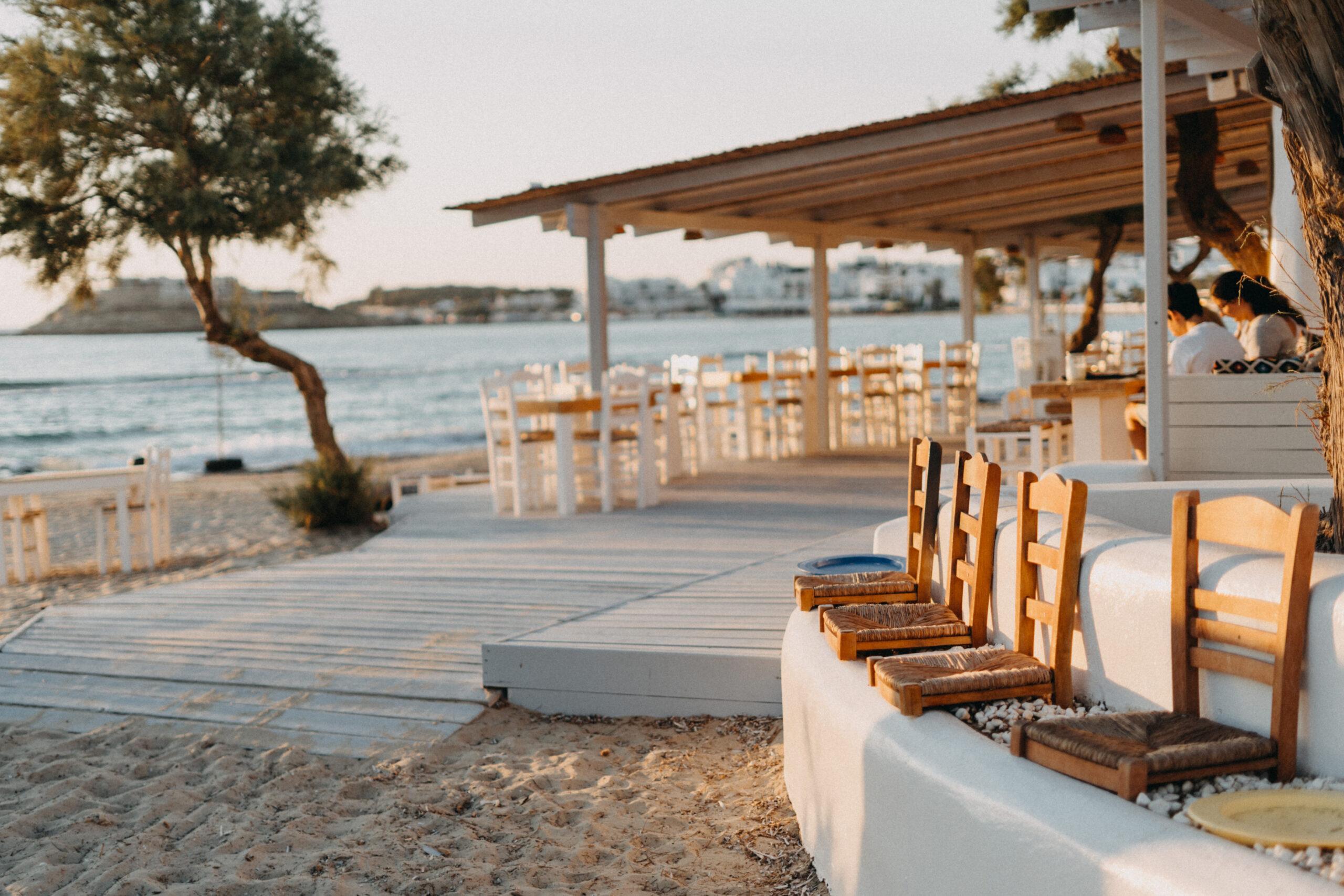 flisvos sport club restaurant naxos bar greece sunset dinner lunch breakfast summer