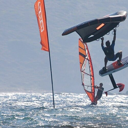 Wing Foiling at Flisvos Sportclub, Naxos, Greece
