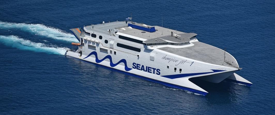 seajet ferry athens naxos piraeus greece flisvos sportclub