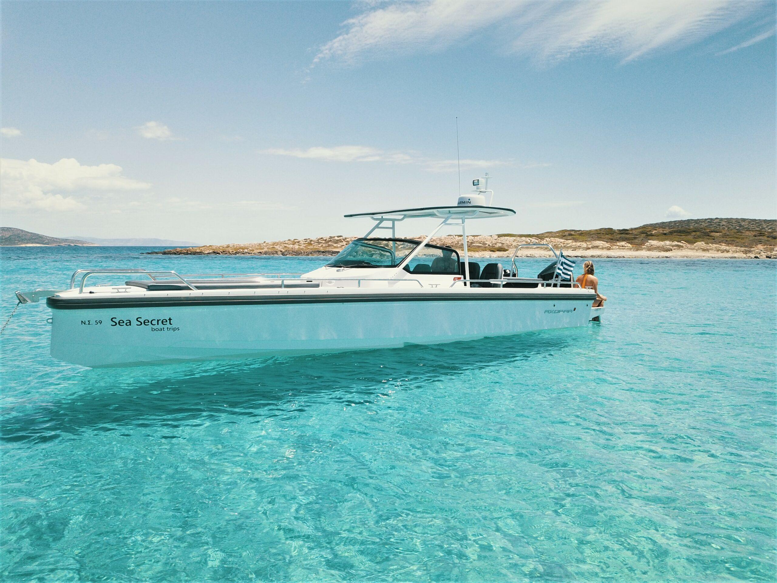 seasecret boat trips naos paros tigani private charter