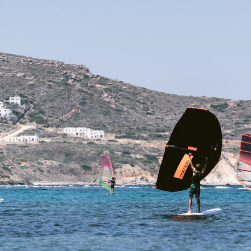 wing foil flisvos sport club naxos greece center