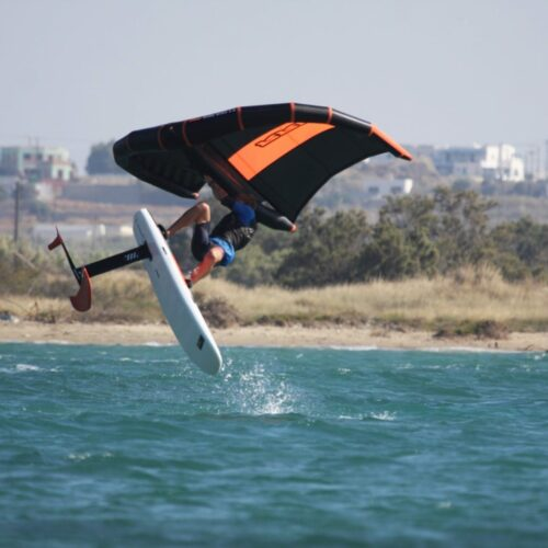 flisvos sport club Wing Foiling at St. George Beach, Naxos, Greece