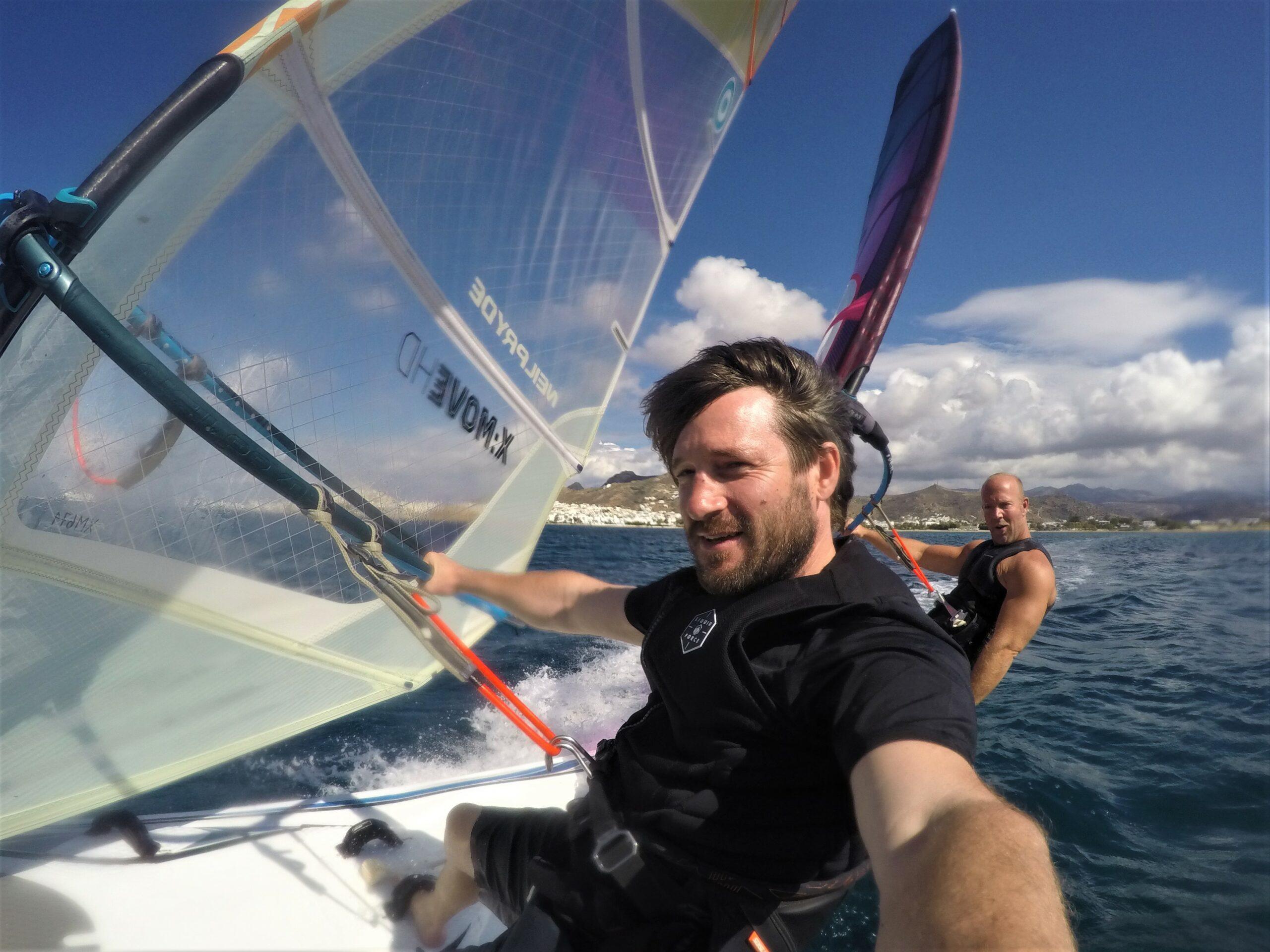 twinboard rrd neipryde sail urlaub ferien sommer windsurfing naxos greece flisvos sport club lessons centre laguna