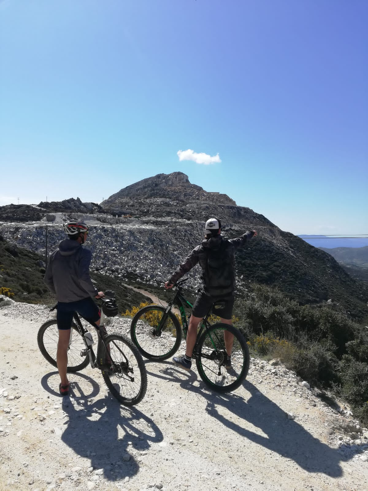 ghost rental mountainbike flisvos sport club naxos greece MTB